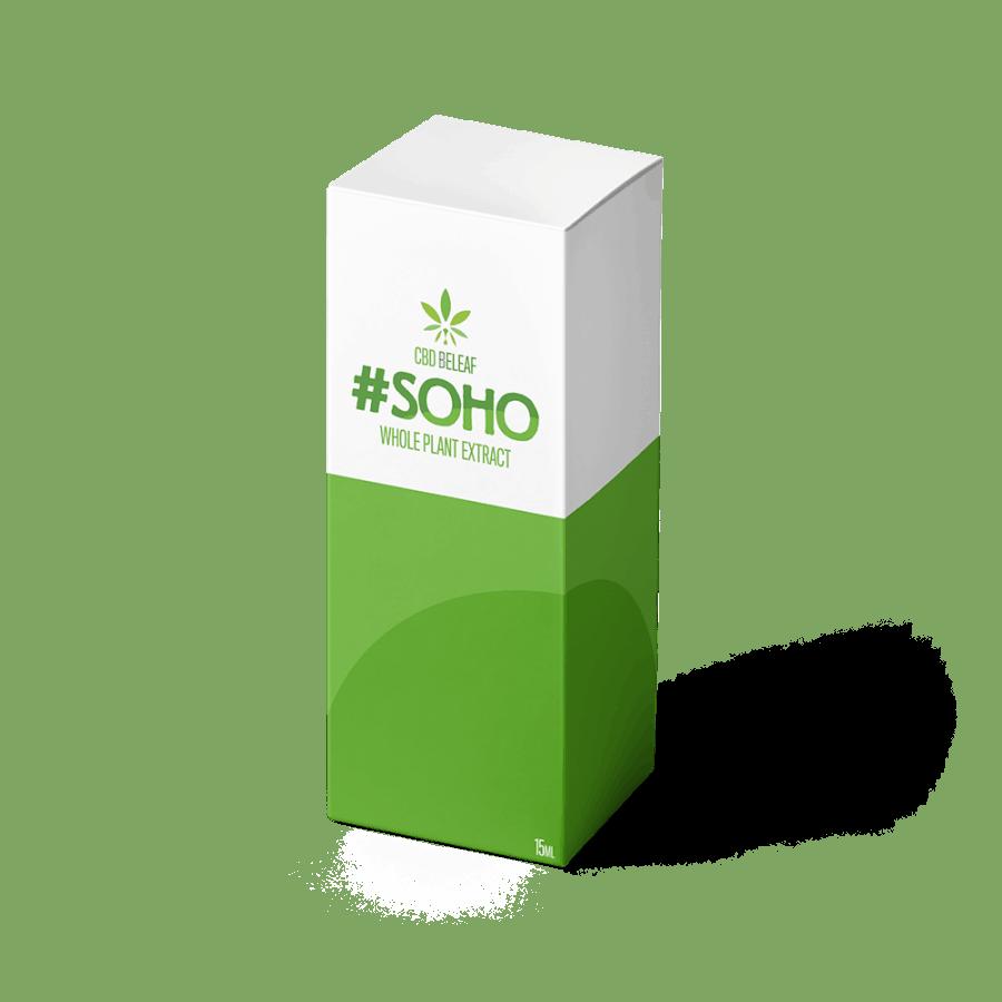 CBD Beleaf Soho Oil 15ml box