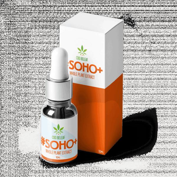 CBD Beleaf Soho + Oil 10ml bottle with box