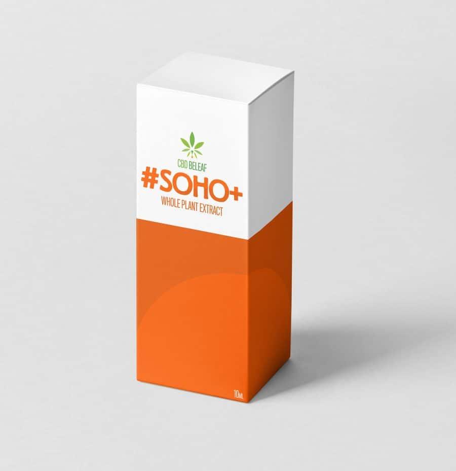CBD Beleaf Soho + Oil 10ml box