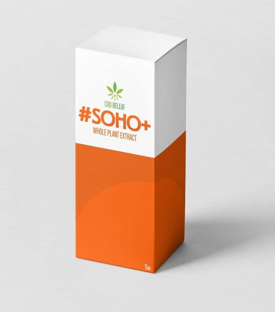CBD Beleaf Soho + Oil 15ml box