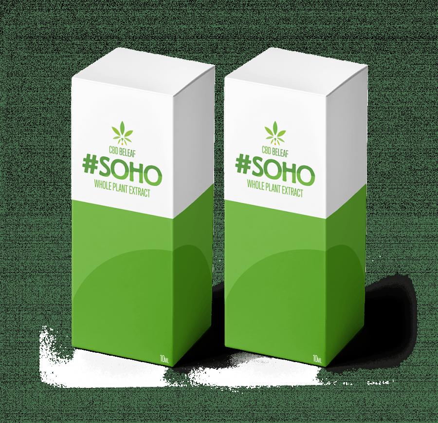 2 CBD Beleaf Soho Oil 10ml boxes